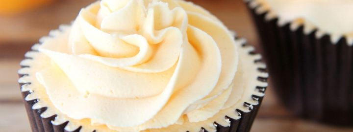 Carrot cupcake with cream cheese icing