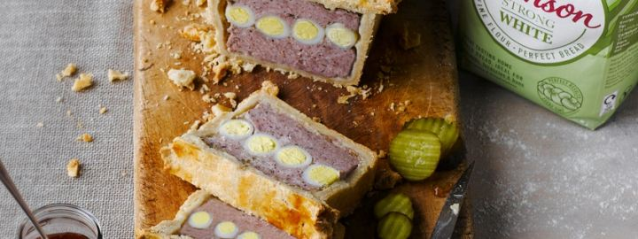 Pork and egg picnic pie