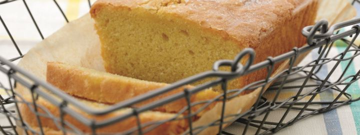 Zesty lemon drizzle cake