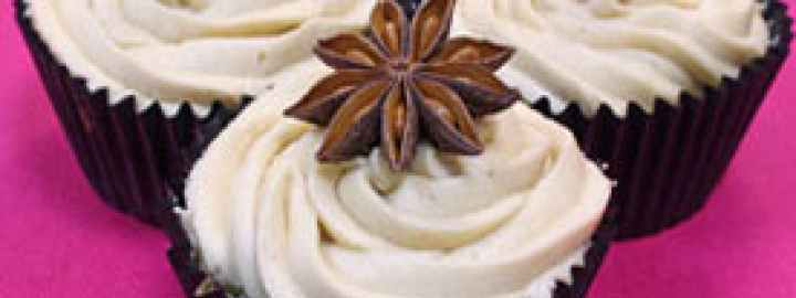 White chocolate and star anise cupcakes
