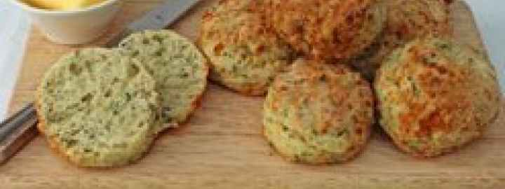 Stilton and parsley scones