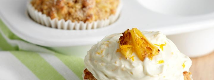 Carrot and pineapple muffins