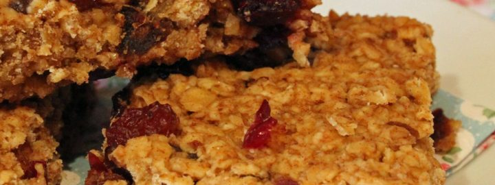 Cherry oat crunchies