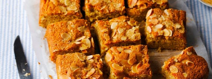 Dorset apple and almond traybake