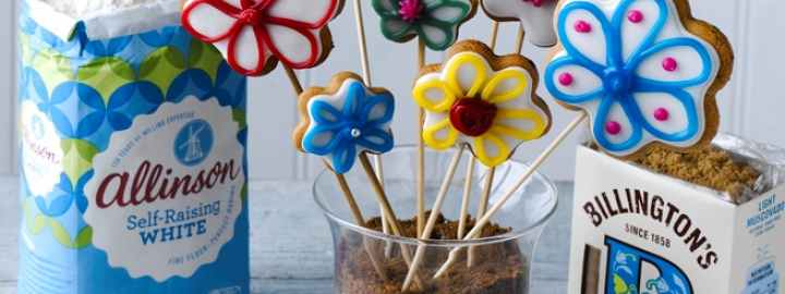 Gingerbread flower biscuits