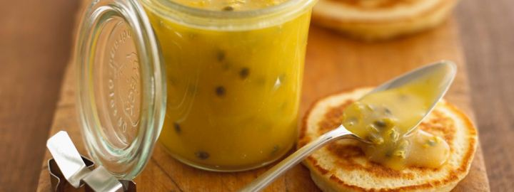Orange and passion fruit curd