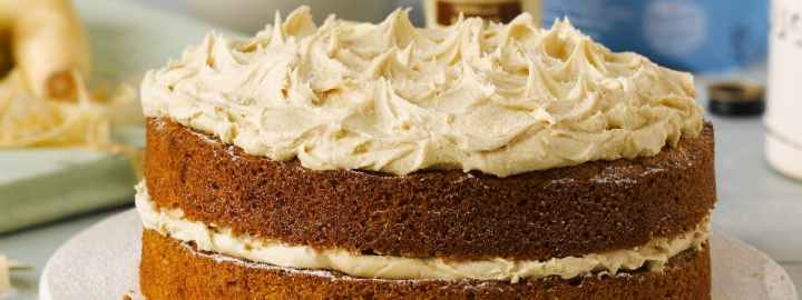 Parsnip and ginger cake with ginger buttercream