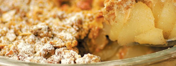 Pear and almond crumble