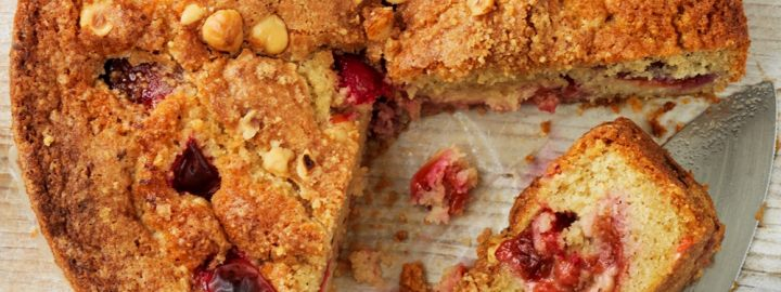 Plum and hazelnut cake