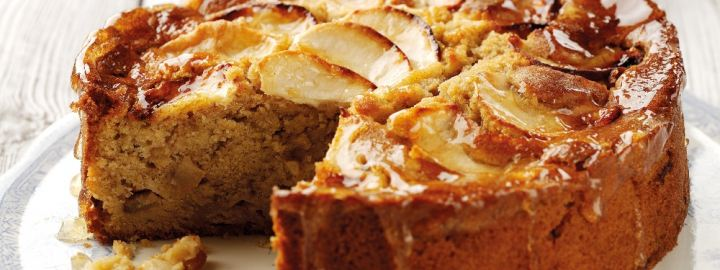 Spiced Bramley apple cake